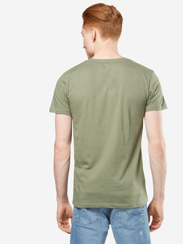 TOM TAILOR DENIM T-Shirt 'NOS melange tee with print'