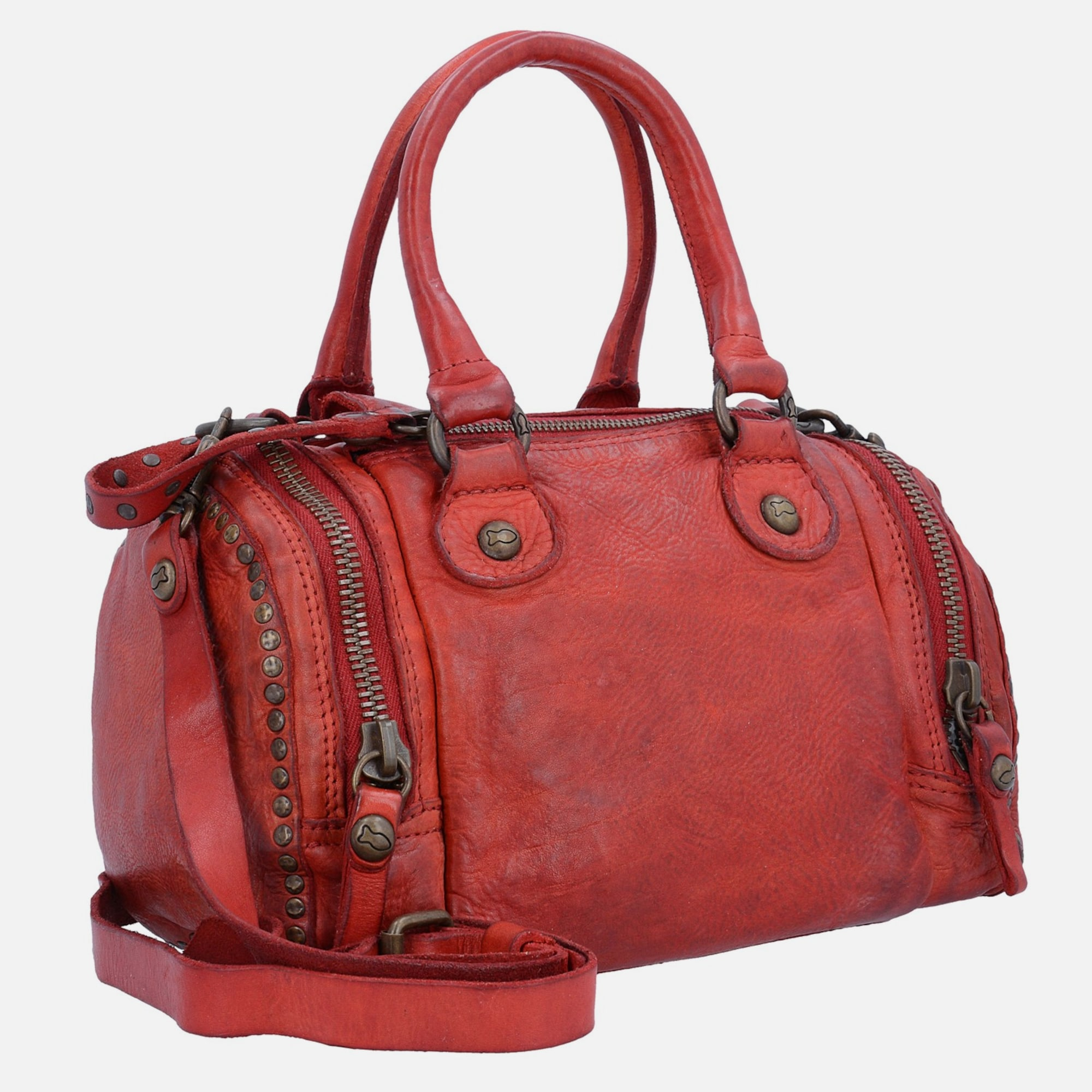 campomaggi bauletto mini bag handtasche leder 20 cm in rot about you. Black Bedroom Furniture Sets. Home Design Ideas