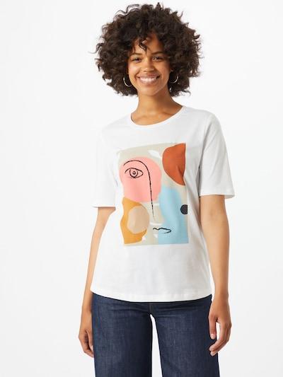 SELECTED FEMME Särk 'Abstract Face' segavärvid / valge: Eestvaade