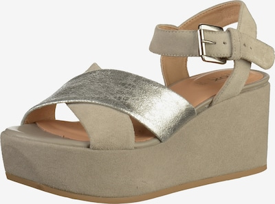 GEOX Sandalen met riem in de kleur Donkerbeige / Zilver, Productweergave