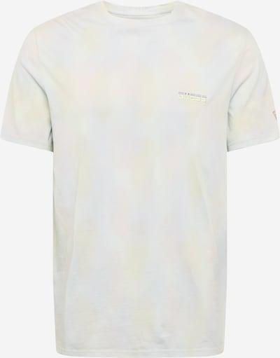 GUESS Shirt in rauchblau / pastellgelb / rosa / weiß, Produktansicht
