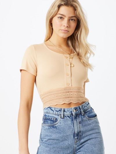 ABOUT YOU Shirt 'Carin' in beige: Frontalansicht