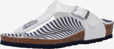 BIRKENSTOCK Sandale 'Gizeh S' in grau / weiß, Produktansicht