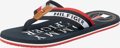 TOMMY HILFIGER Teenslippers in de kleur Donkerblauw / Honing / Rood / Wit, Productweergave