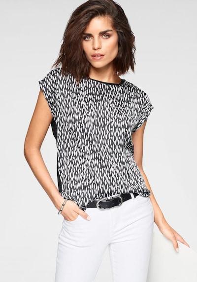 TAMARIS Bluse in schwarz / weiß, Modelansicht