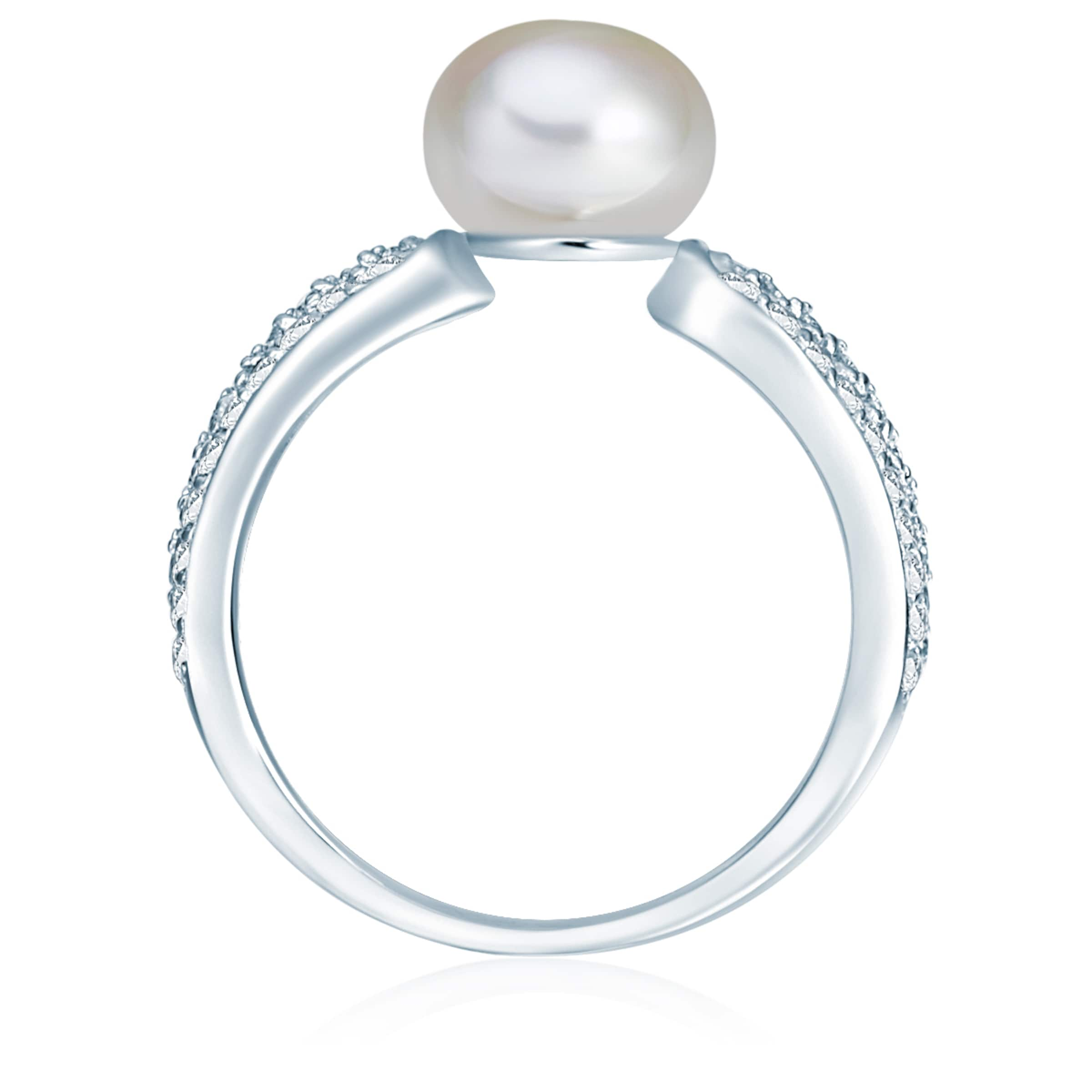 Valero Valero Steinbesatz und mit Pearls Perlen Ring Pearls qPvxvH5g