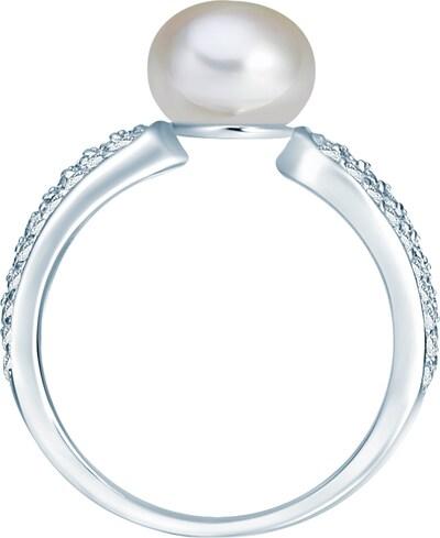 Valero Pearls Ring mit Perlen- und Steinbesatz in silber / perlweiß, Produktansicht