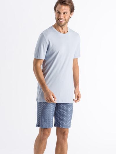 Hanro Pyjama in hellblau, Modelansicht