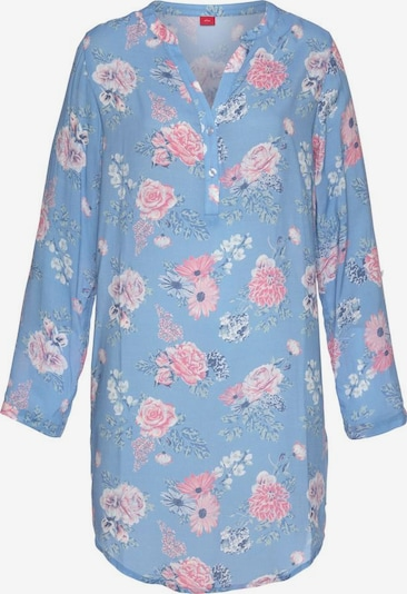 s.Oliver Nachthemd in hellblau / rosa / offwhite, Produktansicht