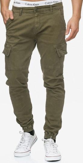 INDICODE JEANS Pantalon cargo 'August' en kaki, Vue avec produit