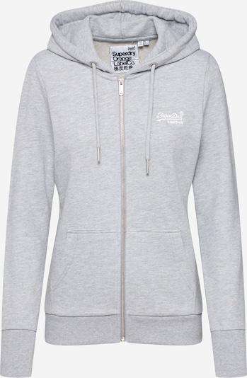Superdry Veste de survêtement en gris chiné: Vue de face