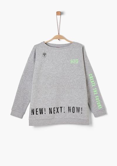 s.Oliver Sweatshirt in blau / graumeliert / grün / schwarz, Produktansicht