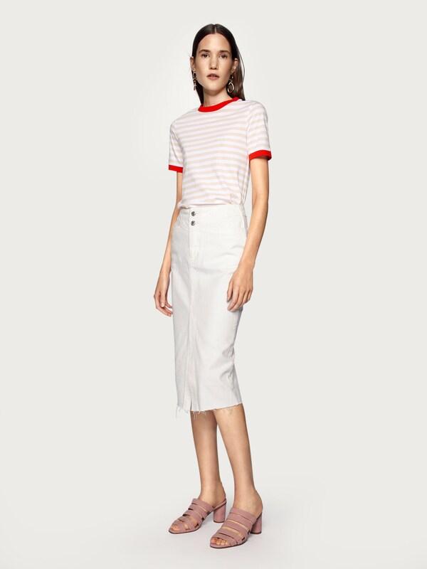 'leonie' Rouge shirt En T Blanc Edited RoseRosé j354RqAL