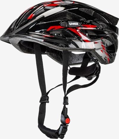 UVEX Fahrradhelm 'air wing' in rot / schwarz / weiß, Produktansicht
