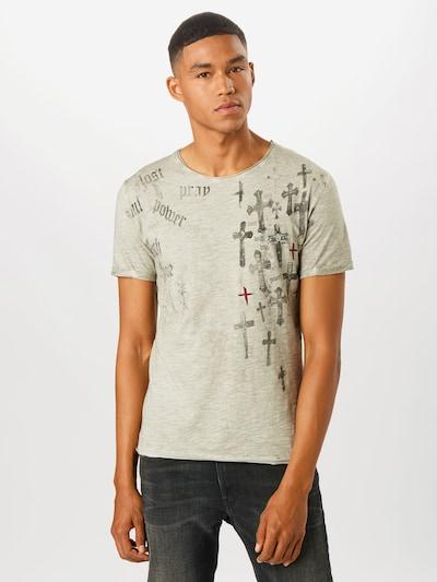 Key Largo T-Shirt 'Prayer' in greige: Frontalansicht