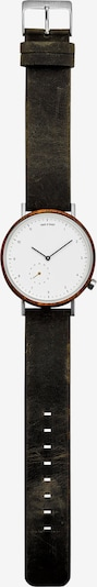TAKE A SHOT Uhr 'George' in braun / weiß, Produktansicht
