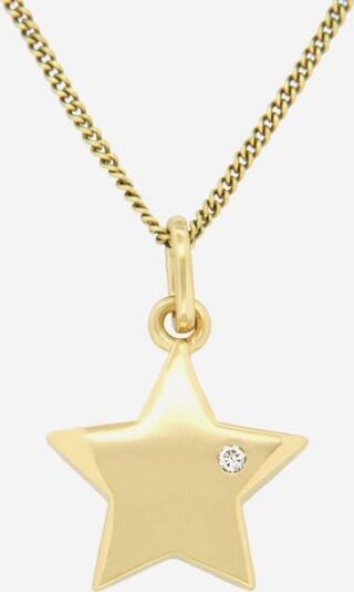 VIVANCE Kettenanhänger 'Stern' in gold, Produktansicht
