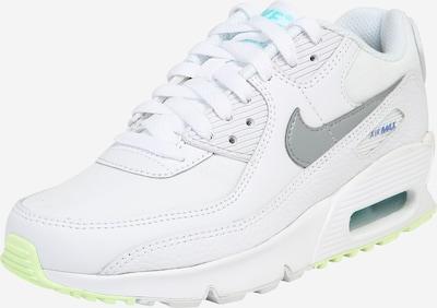 Nike Sportswear Baskets 'Air Max 90' en bleu marine / turquoise / gris chiné / blanc, Vue avec produit