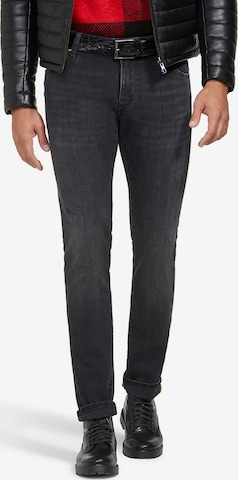 Meyer Hosen M 5 Slim 5-Pocket Jeans in Grau