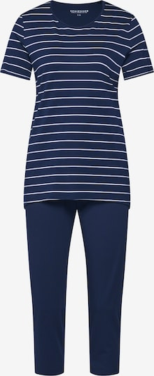 SCHIESSER Pyjama in de kleur Nachtblauw / Wit, Productweergave