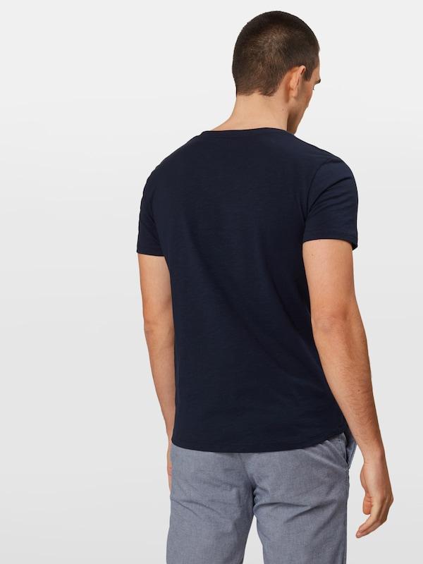 Tom Tailor En T shirt Denim Foncé Bleu 1FJTlK3c