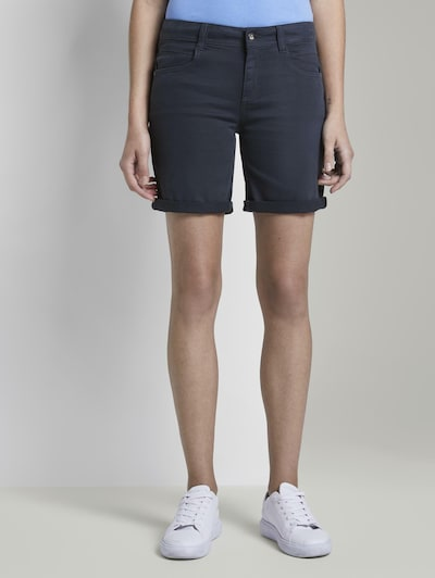 TOM TAILOR Shorts 'Alexa' in dunkelblau, Modelansicht