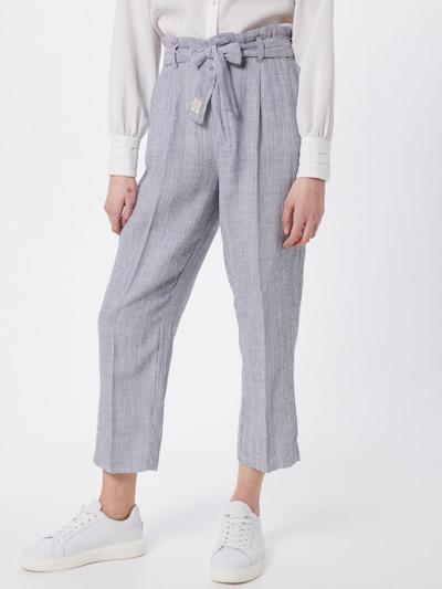 Herrlicher Hose 'Comfy Linen Chambray Stripes' in blau, Modelansicht