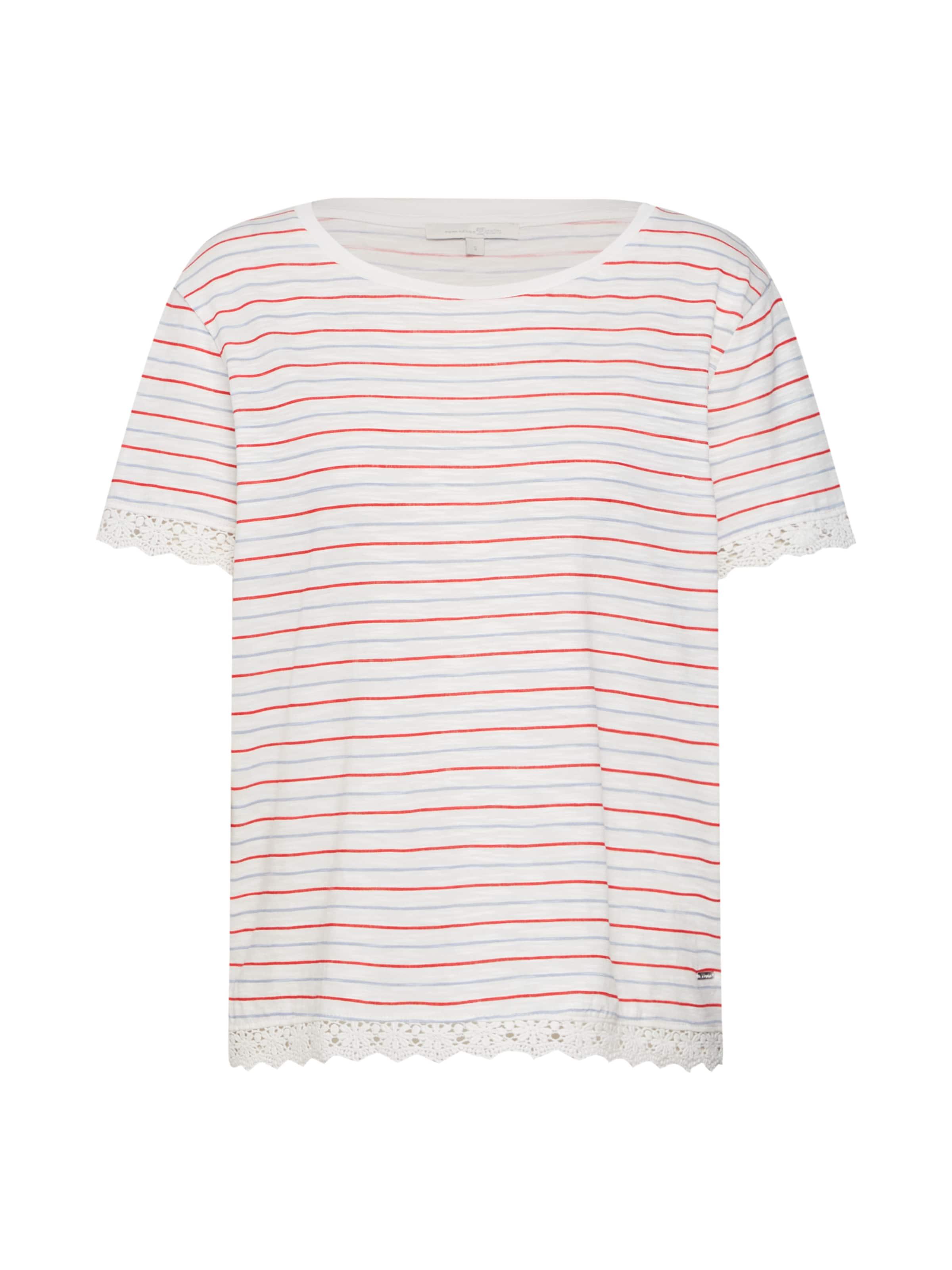 In TaubenblauRot Tailor Denim Tom Shirt Weiß eW9ID2YEHb