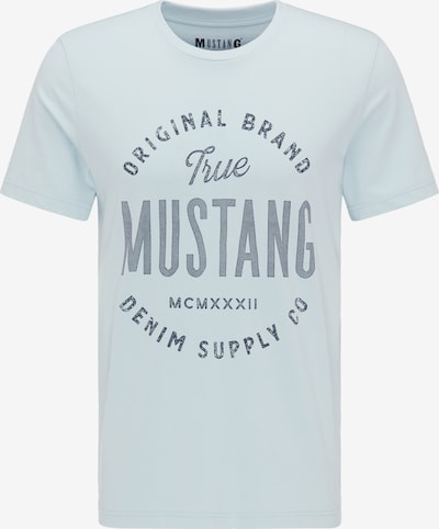 MUSTANG T-Shirt ' Label-Shirt ' in blau, Produktansicht