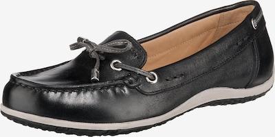 GEOX Mocassins in de kleur Zwart / Offwhite, Productweergave