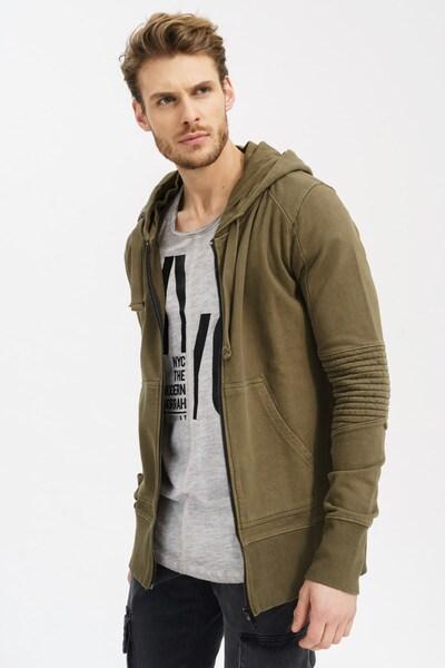 trueprodigy Sweatjacke 'Percy' in khaki, Produktansicht