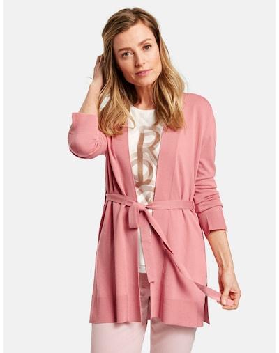 GERRY WEBER Jacke Strick Lange Jacke aus feinem Strick in pink, Modelansicht