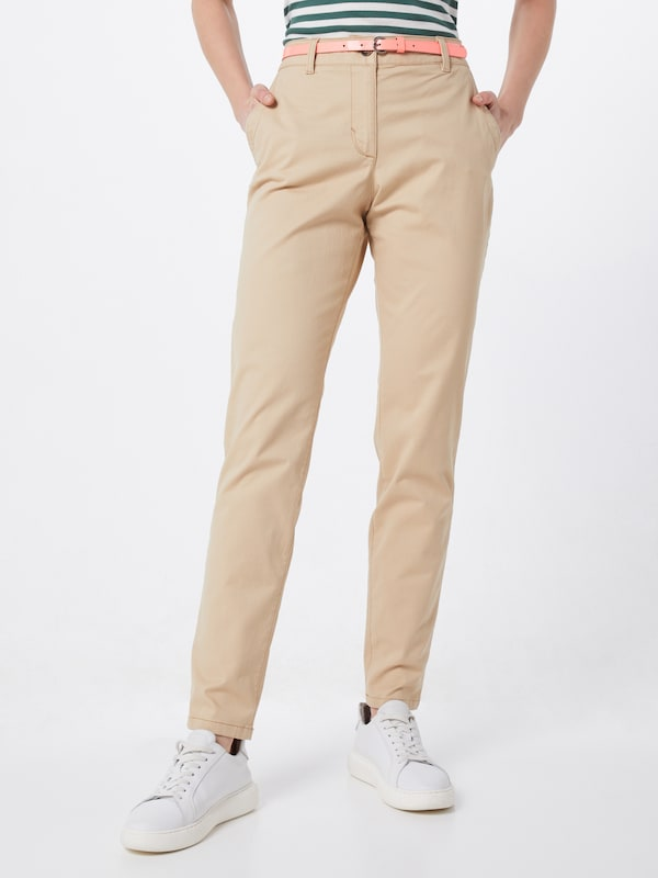 TOM TAILOR Chinohose in beige / creme, Modelansicht