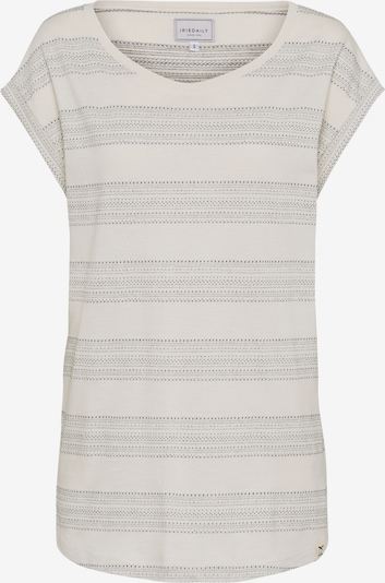 Iriedaily T-Shirt 'Neila' in beigemeliert / anthrazit, Produktansicht
