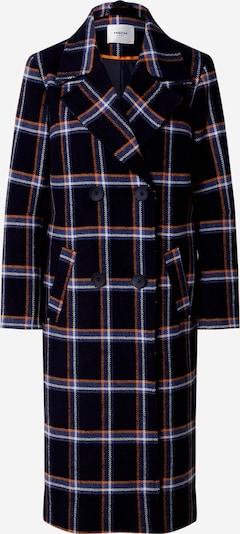 MOSS COPENHAGEN Mantel in rauchblau / nachtblau / koralle / weiß, Produktansicht