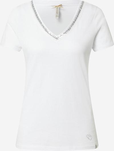 Key Largo Shirt 'Mila' in de kleur Zilvergrijs / Wit, Productweergave