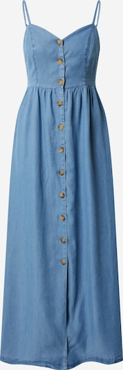 ONLY Zomerjurk 'ONLCUMA LIFE SL BTN DWN LONG S DNM DRESS' in de kleur Blauw denim, Productweergave