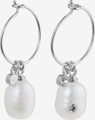 Pilgrim Kolczyki ' Love' w kolorze srebrny / białym, Podgląd produktu