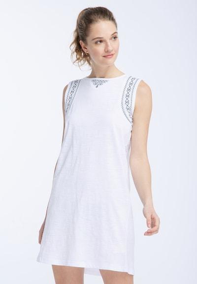DREIMASTER Kleid in blau / weiß, Modelansicht