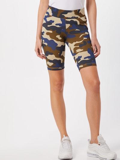 Urban Classics Shorts ' Camo' in blau / khaki, Modelansicht