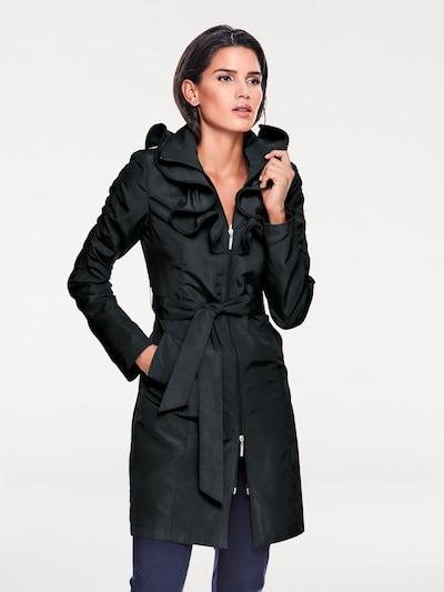 heine Trenchcoat mit Rüschen in schwarz, Modelansicht