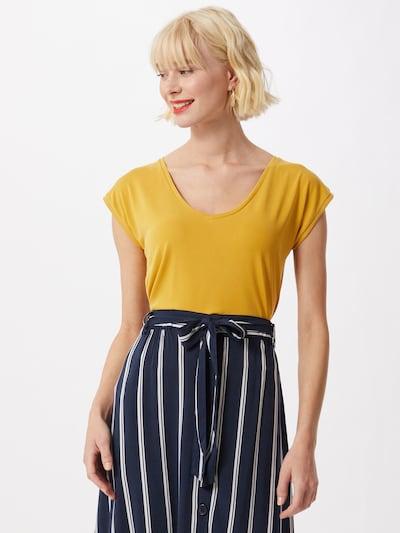 PIECES T-shirt 'KAMALA' en jaune d'or: Vue de face
