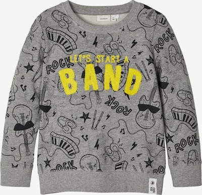 NAME IT Sweatshirt in gelb / grau / schwarz, Produktansicht