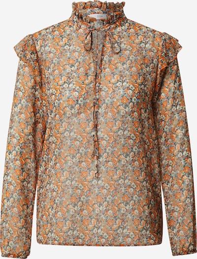 Camicia da donna Rich & Royal di colore crema / blu chiaro / arancione, Visualizzazione prodotti