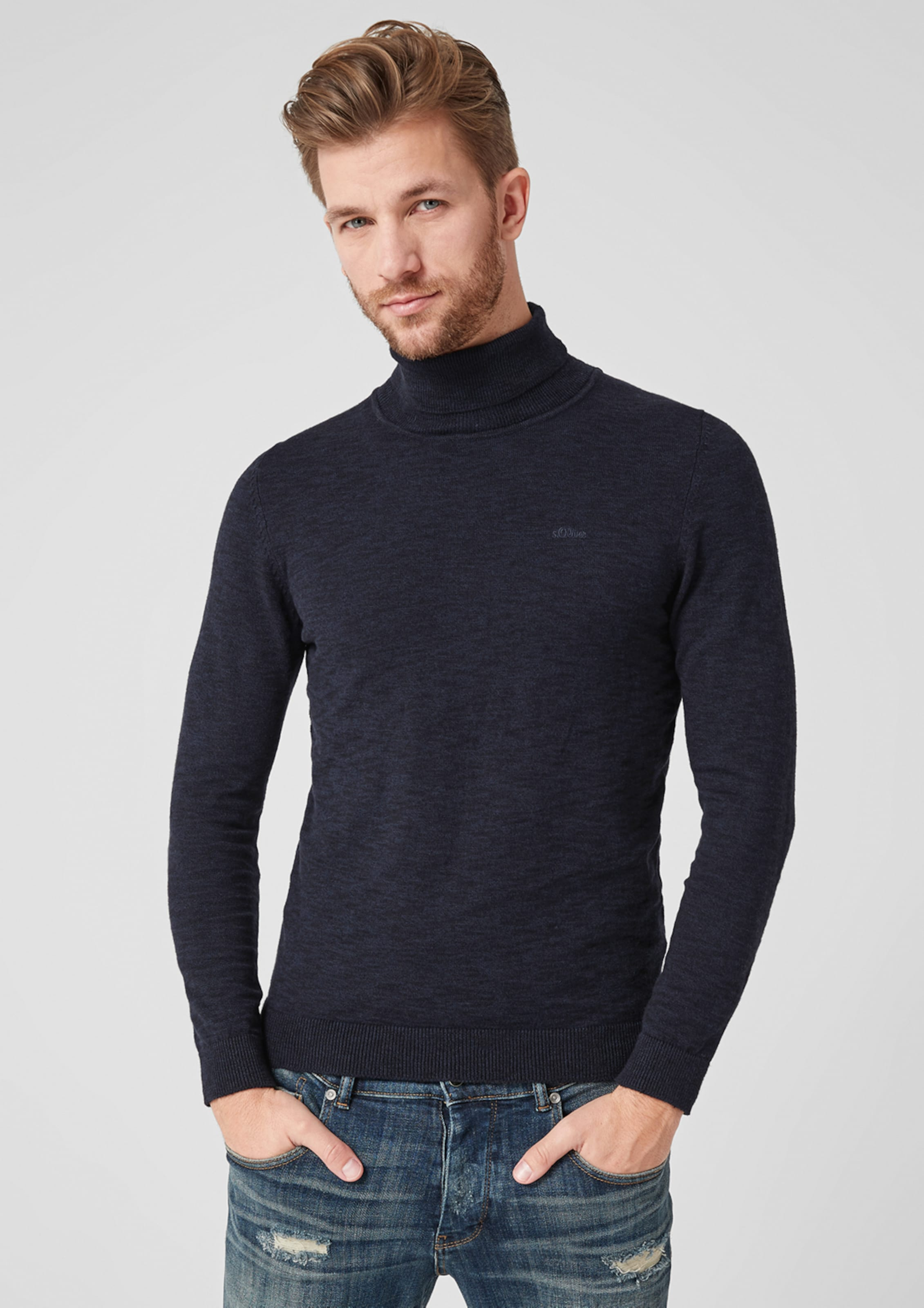 Label Pullover Red Nachtblau S oliver In tdshQr