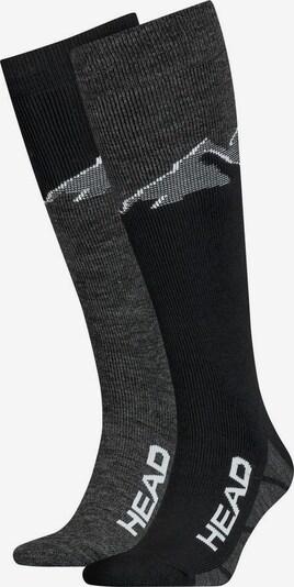 HEAD Sportsocken in graumeliert / schwarz, Produktansicht