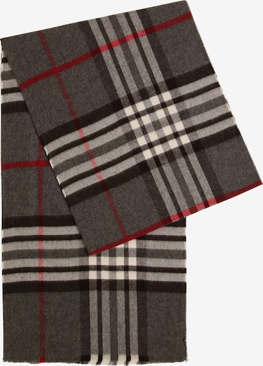 Andrew James Schal in creme / dunkelbraun / dunkelgrau / rot, Produktansicht