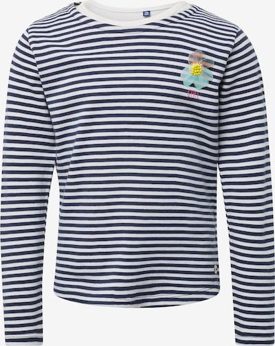 TOM TAILOR Sweatshirt in dunkelblau / naturweiß, Produktansicht