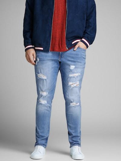 Jack & Jones Plus Jeans in blue denim, Modelansicht