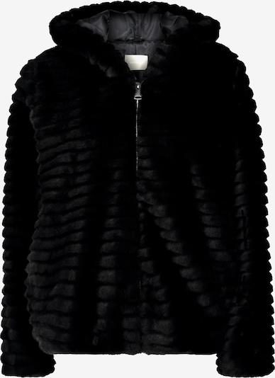 Amber & June Plüschjacke in schwarz, Produktansicht